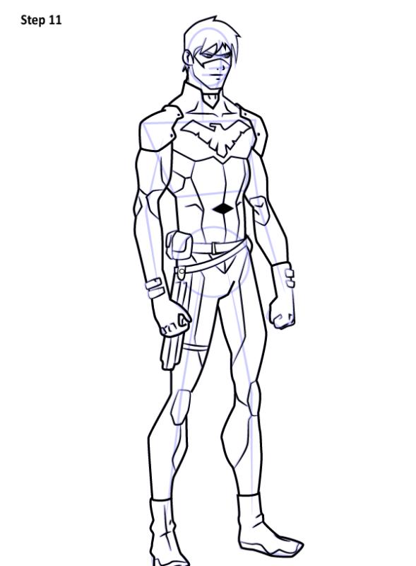 Как нарисовать Найтвинга из комиксов 11