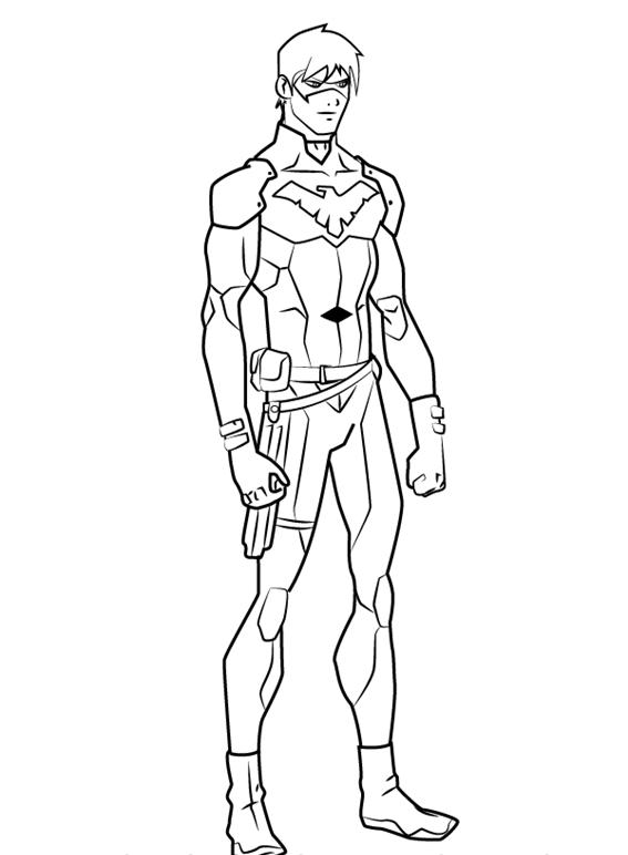 Как нарисовать Найтвинга из комиксов 12