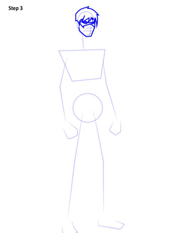 Как нарисовать Найтвинга из комиксов 3
