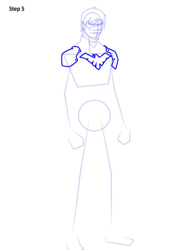 Как нарисовать Найтвинга из комиксов 5