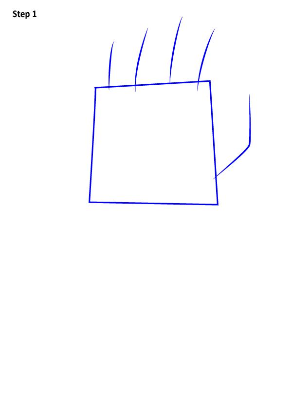 Как нарисовать перчатку бесконечности 1