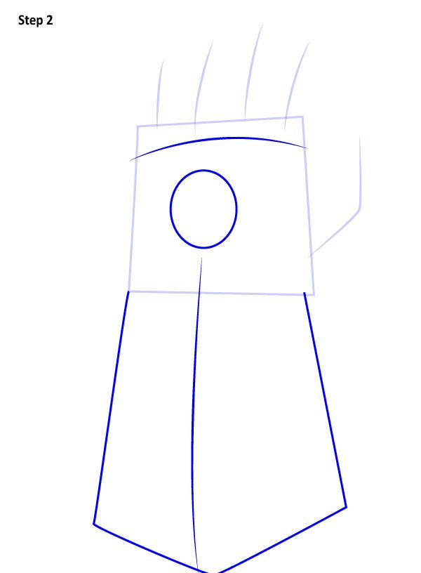 Как нарисовать перчатку бесконечности 2