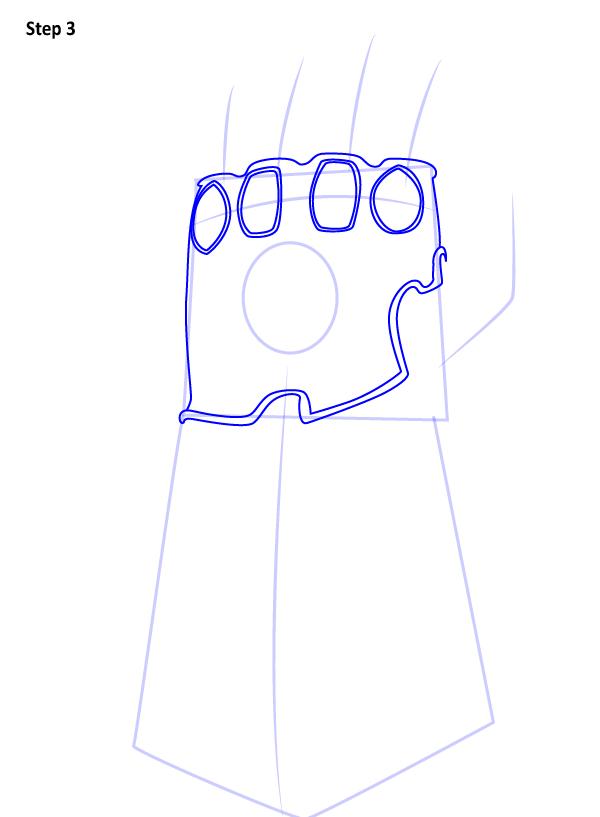 Как нарисовать перчатку бесконечности 3