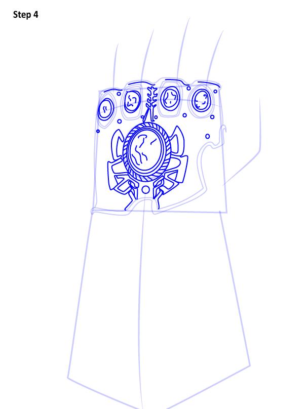Как нарисовать перчатку бесконечности 4