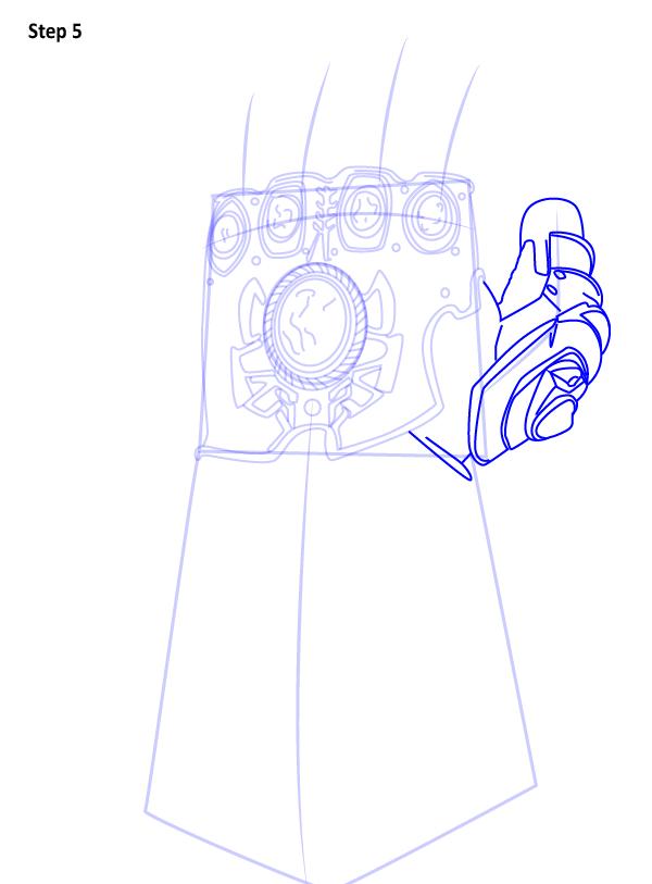 Как нарисовать перчатку бесконечности 5