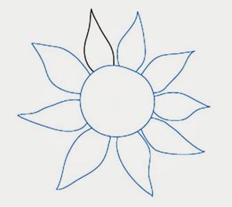 Как нарисовать подсолнух7