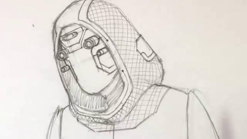 Рисунок Призрака из Человек муравей и Оса 10