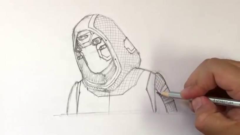 Рисунок Призрака из Человек муравей и Оса 11