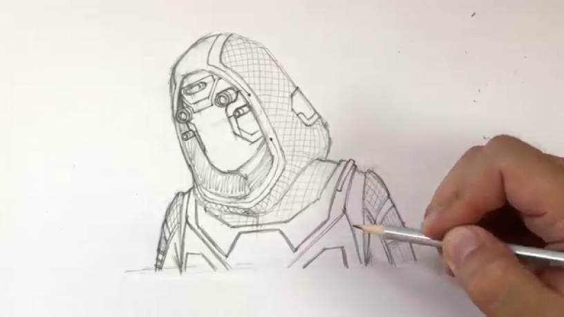 Рисунок Призрака из Человек муравей и Оса 12