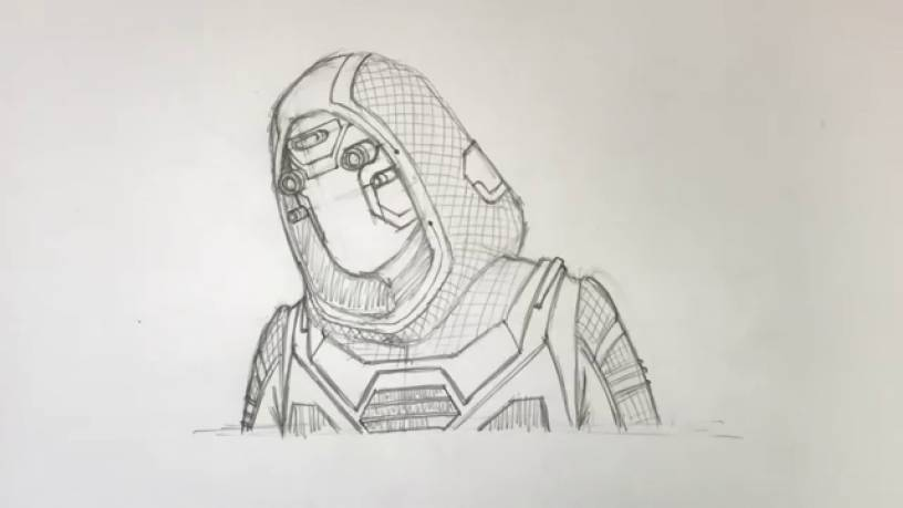 Рисунок Призрака из Человек муравей и Оса 14