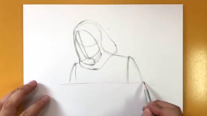Рисунок Призрака из Человек муравей и Оса 4