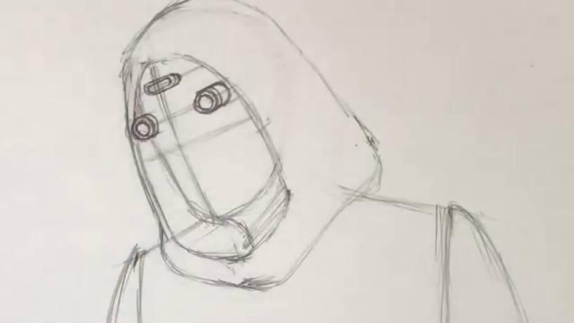 Рисунок Призрака из Человек муравей и Оса 6
