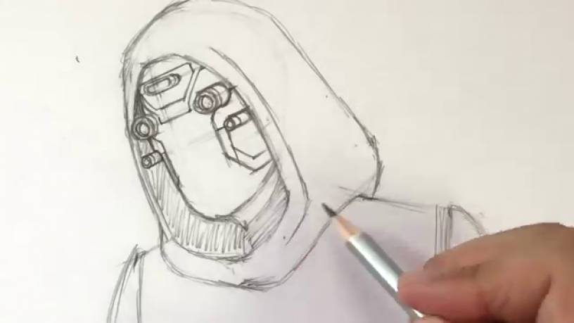 Рисунок Призрака из Человек муравей и Оса 8