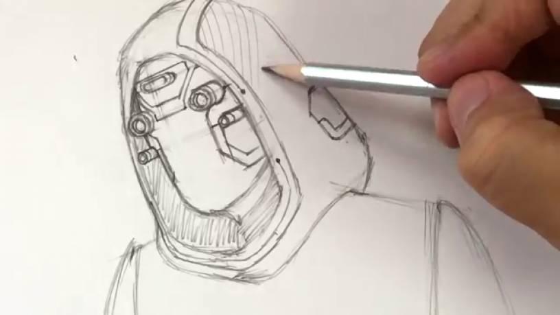 Рисунок Призрака из Человек муравей и Оса 9