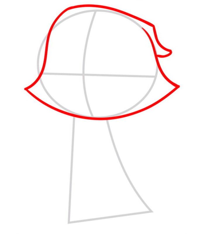 Как поэтапно нарисовать Рейвен из комиксов 2