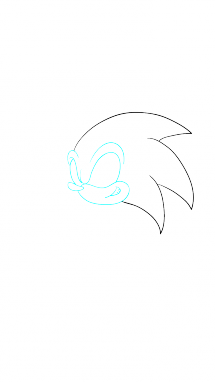Поэтапно нарисовать Соника 4