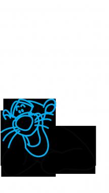 Как поэтапно нарисовать Тигру из мультфильмов 2