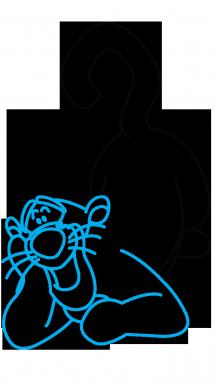 Как поэтапно нарисовать Тигру из мультфильмов 3
