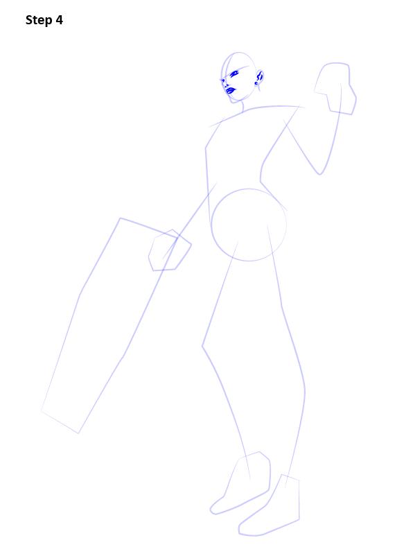 Как нарисовать Роковую вдову 4