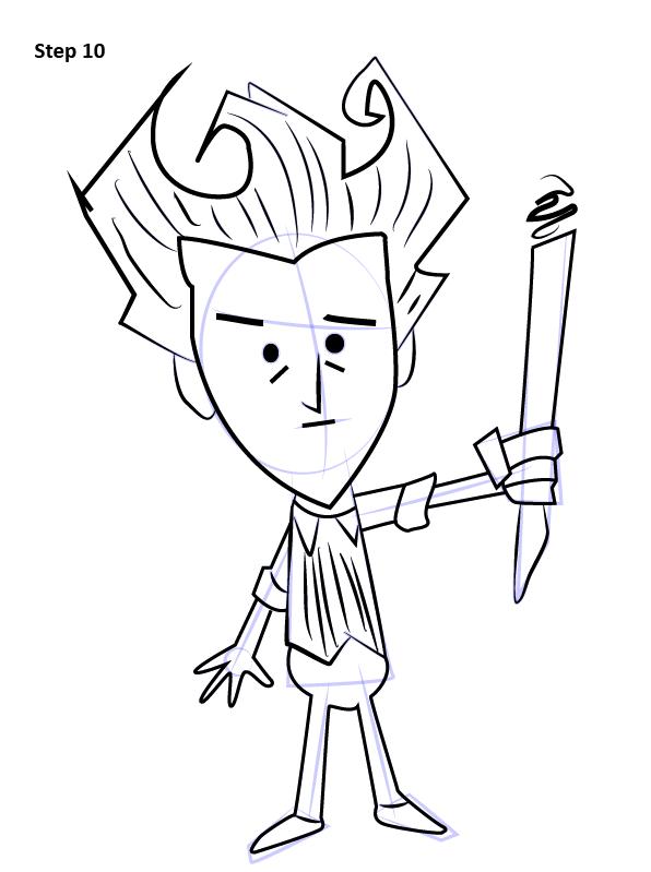 Как нарисовать Уилсона из Don't Starve 10