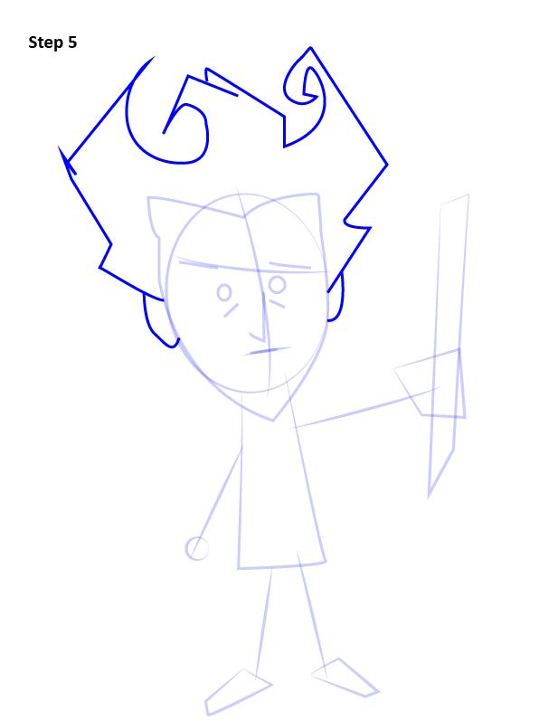 Как нарисовать Уилсона из Don't Starve 5