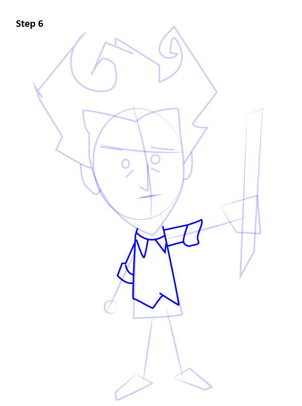 Как нарисовать Уилсона из Don't Starve 6