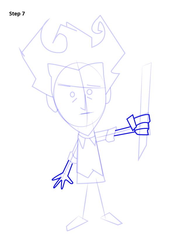 Как нарисовать Уилсона из Don't Starve 7