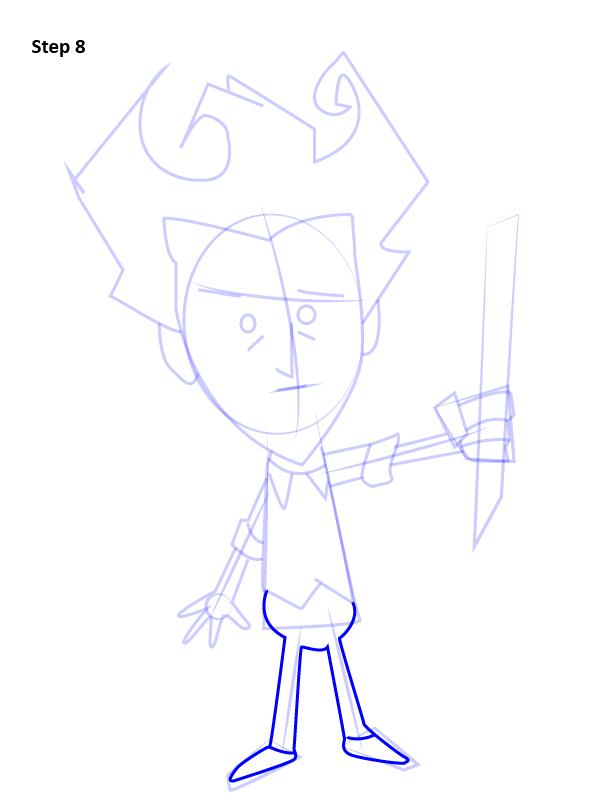 Как нарисовать Уилсона из Don't Starve 8