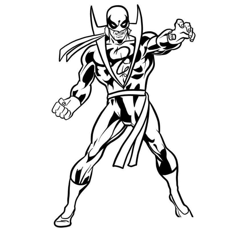 Как нарисовать Железного кулака 16