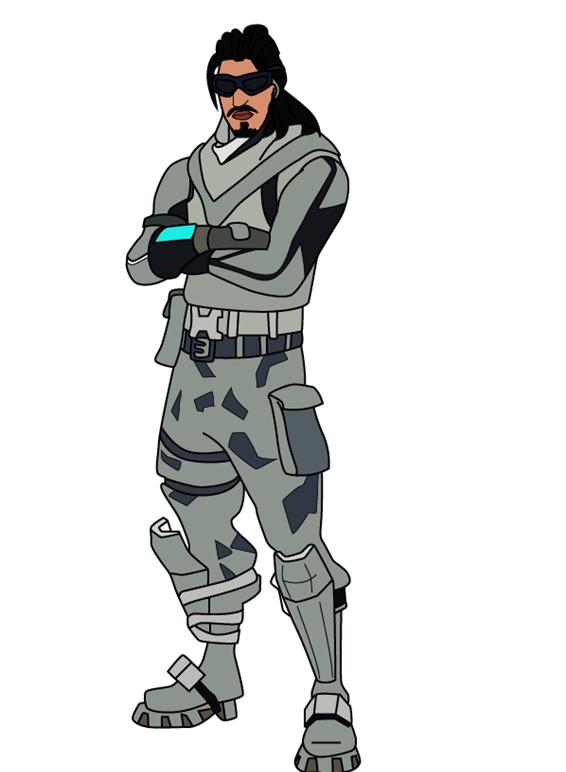 Как нарисовать персонажа из игры Fortnite 0