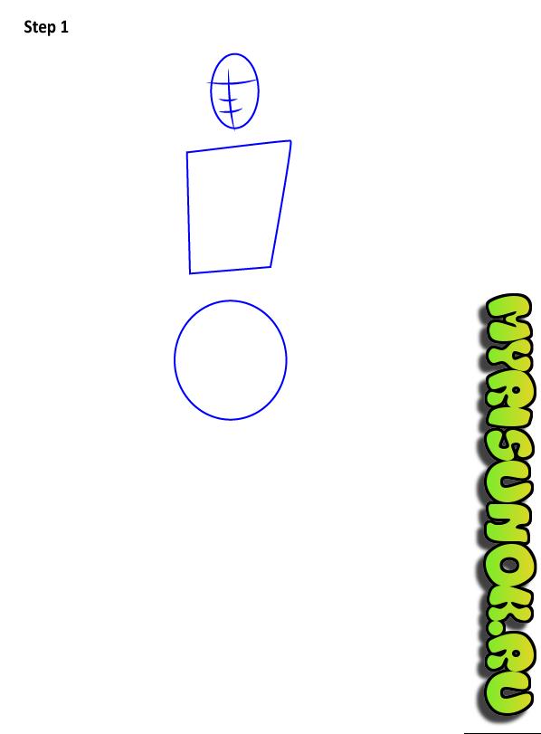 Как нарисовать персонажа из игры Fortnite 1