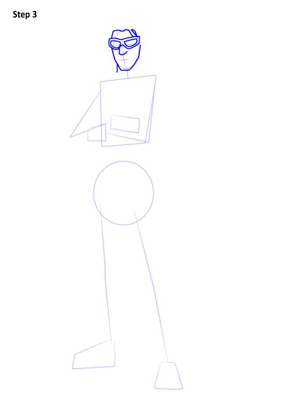 Как нарисовать персонажа из игры Fortnite 3