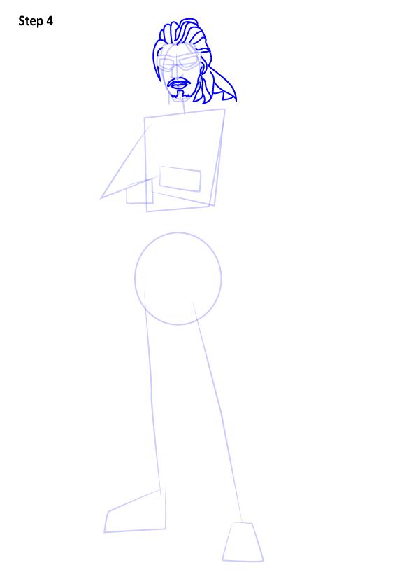 Как нарисовать персонажа из игры Fortnite 4