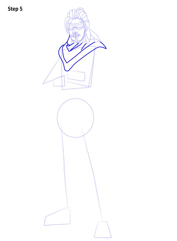 Как нарисовать персонажа из игры Fortnite 5