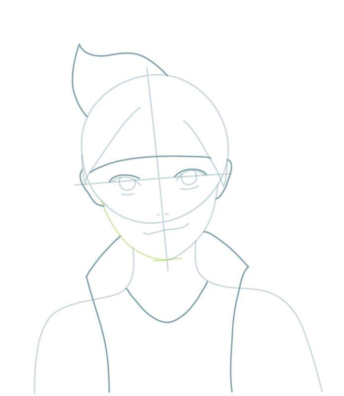 Как нарисовать Боруто 4