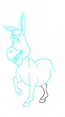 Как нарисовать осла из шрека10