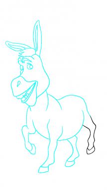 Как нарисовать осла из шрека11
