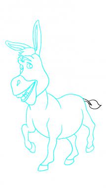 Как нарисовать осла из шрека12