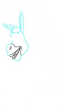 Как нарисовать осла из шрека5