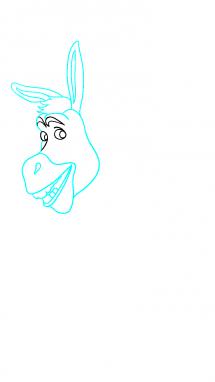 Как нарисовать осла из шрека6