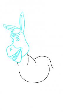 Как нарисовать осла из шрека7