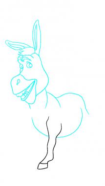 Как нарисовать осла из шрека8