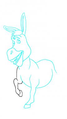 Как нарисовать осла из шрека9