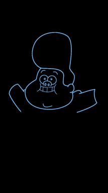 Как нарисовать малыша Гидеона6