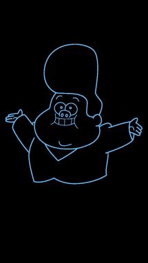 Как нарисовать малыша Гидеона8