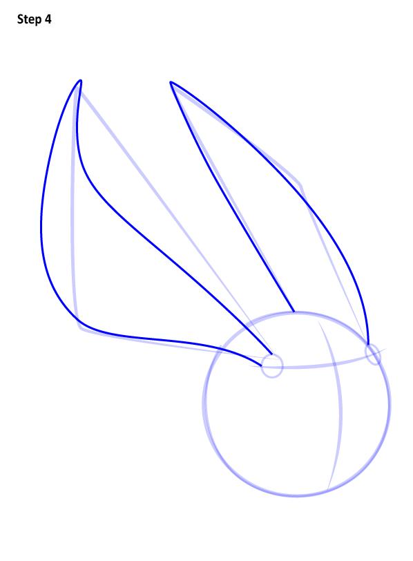 Как нарисовать Золотой снитч 4