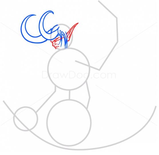 как нарисовать Иллидана4