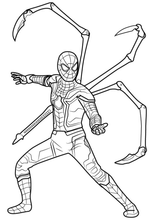 Как нарисовать Железного паука 13