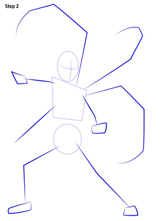 Как нарисовать Железного паука 2