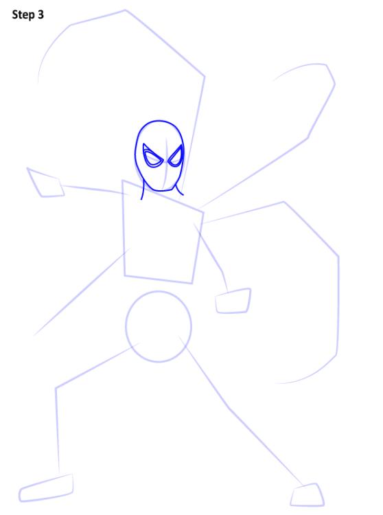 Как нарисовать Железного паука 3